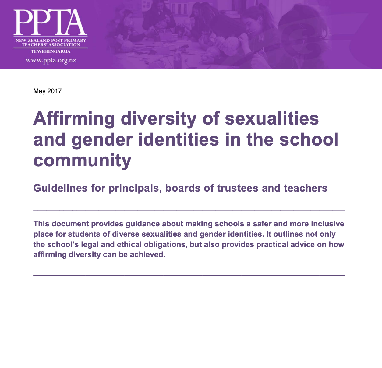 Affirming Diversity of Sexualities Resource